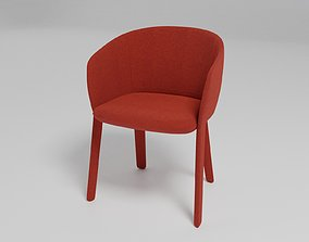 3D GRACE - Upholstered fabric chair with armrests -