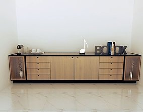 3D model office bookcase