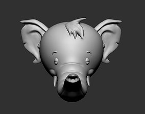 Elephant head 3D printable model beast