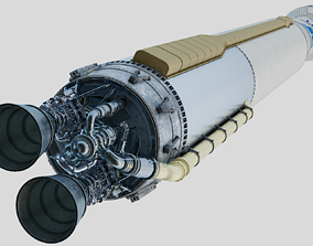 Atlas V rocket 3D model