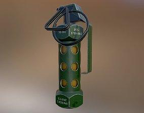3D model game-ready PBR M84 stun grenade