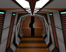 3D sci-fi electrostatic Sci Fi Corridor