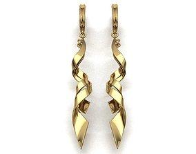 pendant print model earring