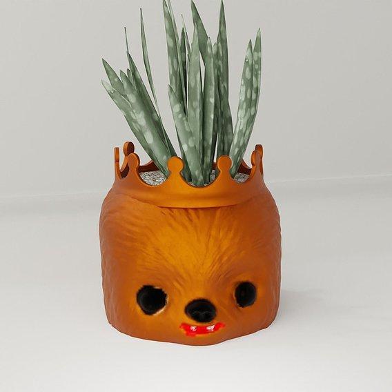 plant pot holder Chewbacca