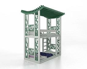 3D model Bunk bed Panda style
