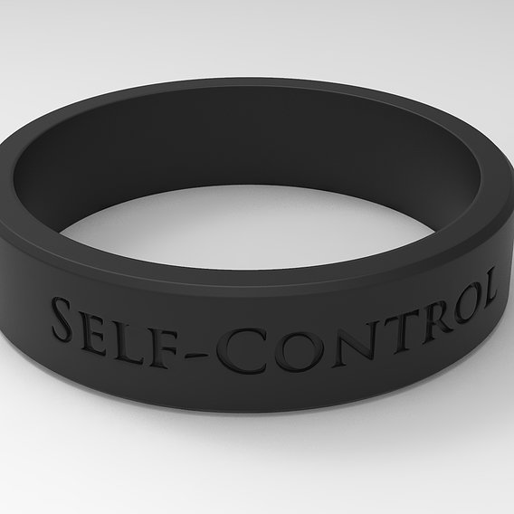 Self-Control Ring Black