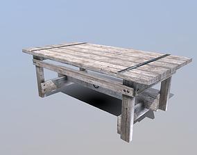 Farmhouse Table 3D asset