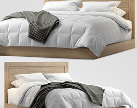 Modern double bed 9 3D
