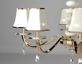 3D model Golden Chandelier