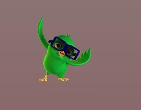 3D asset Cartoon Bird Glasses