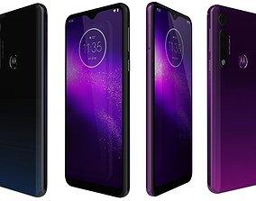 Motorola One Macro Space Blue And Ultra violet 3D model