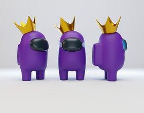 3D model Among Us Crown Character
