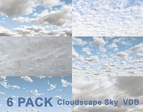 3d 3D Clouds Sky - 6 PACK