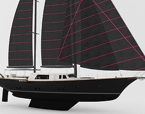 Sailing Yacht - 40 meters 3D