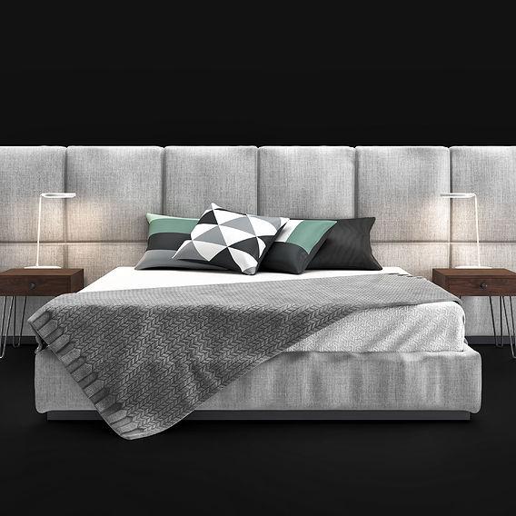 Elle Decor Bed 3D Model