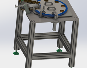 3D model The rotary plate feeding and unloading device