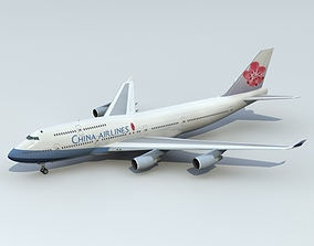 passenger 3D 747-400 China Airlines