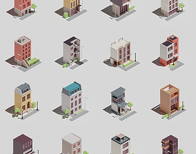 3D asset Two-sided buildings 1