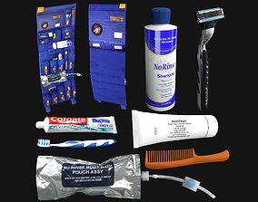 Astronaut Hygiene Kit Low Poly 3D asset realtime