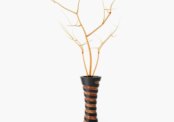 Vase with decor