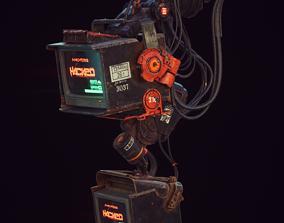 Cyberpunk Hacker Terminal V1 3D asset