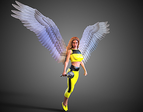 Hawkgirl Justice League Unlimited 3D model