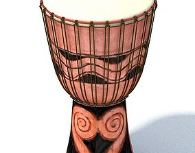 3D Authentic Tribal Drum