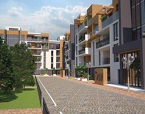 3D Modern Residental Complex