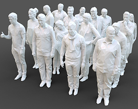 3D model game-ready Stylized Human Statues Pack
