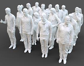 16 Stylized Human Statues Pack V8 3D asset