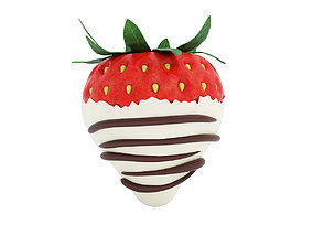 Chocolate covered strawberry 2 3D