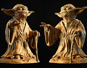 sentient Yoda Sculpture fan 3d print model