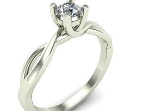 jewelry gold diamond 3D printable model ENGAGEMENT RING