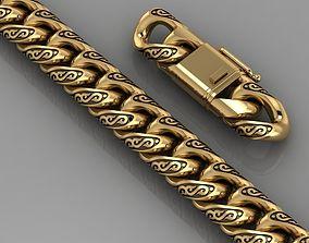 bracelet 3D print model chain