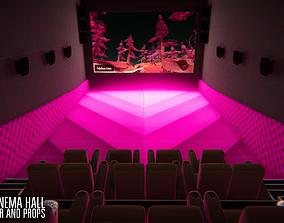 3D model VIP cinema hall - interior and props