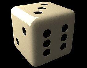 A white Dice 3D model