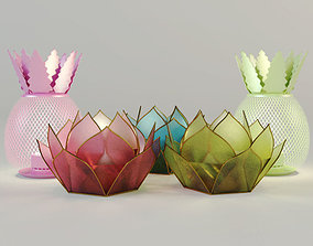 Lanterns by ZARA HOME 3D model flower