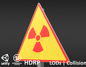 Game-ready Radioactivity sign - Unity - HDRP - 3D model