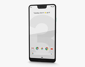 3D model Google Pixel 3 XL Clearly White