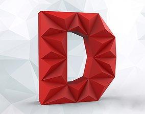 3D printable model Lowpoly letter D