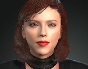 animated 3D Character design for actor Scarlett Johansson