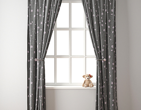 Curtain 117 Teddy bear 3D model