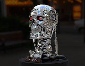Terminator T-800 Skull Bust 3D Print Stl Model