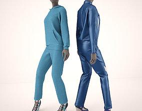mannequins in sportswear 3D