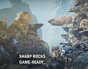 3D model Sharp rocks