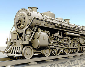 steam engine locomotive 3D asset