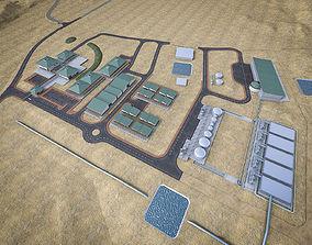 Industrial Mining Factory 3D asset