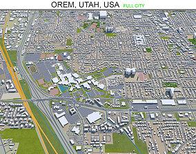 Orem Utah USA 20km 3D asset
