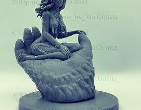 3D print model girl on hand kingkong