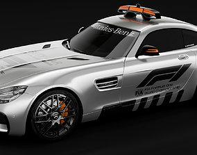 Mercedes-Benz AMG GTS safety car 3D